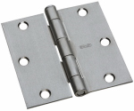 National Mfg/Spectrum Brands Hhi N830-239 Door Hinge, Interior, Square-Edge, Satin Chrome, 3.5-In.
