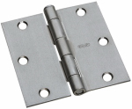 National Mfg/Spectrum Brands Hhi N830-241 Door Hinge, Interior, Square-Edge, Satin Chrome, 3-In.