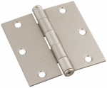 National Mfg/Spectrum Brands Hhi N830-250 Door Hinge, Interior, Square-Edge, Satin Nickel, 3-In.