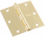 National Mfg/Spectrum Brands Hhi N830-320 Door Hinge, Interior, Square-Edge, Bright Brass, 3.5-In.