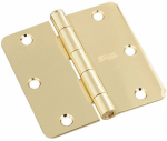 National Mfg/Spectrum Brands Hhi N830-321 Door Hinge, Interior, Bright Brass, 3.5-In.