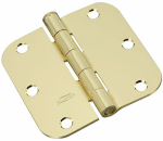 National Mfg/Spectrum Brands Hhi N830-322 Door Hinge, Interior, Round-Edge, Bright Brass, 3.5-In.