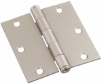 National Mfg/Spectrum Brands Hhi N830-326 Door Hinge, Interior, Square-Edge, Satin Nickel, 3.5-In.