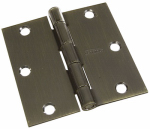 National Mfg/Spectrum Brands Hhi N830-329 Door Hinge, Interior, Square-Edge, Antique Brass, 3.5-In.
