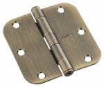 National Mfg/Spectrum Brands Hhi N830-331 Door Hinge, Interior, Round-Edge, Antique Brass, 3.5-In.