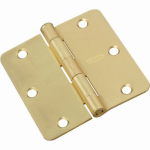 National Mfg/Spectrum Brands Hhi N830-333 Door Hinge, Interior, Satin Brass, 3.5-In.