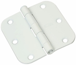 National Mfg/Spectrum Brands Hhi N830-337 Door Hinge, Interior, Round-Edge, White, 3.5-In.