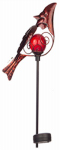 Sterno Home GL29559RD Solar Stake Light, Red Cardinal, Metal