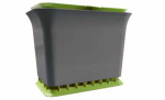 Full Circle Home FC11301-GS Fresh Air Kitchen Compost Collector, Green Slate, 1.5-Gals.