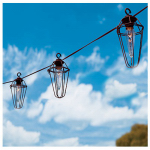 Gerson 2201390 Patio Light Set, Clear Retro Cafe, 10-Ct.