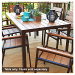 Jack Post HA-820 Hudson Bay Patio Collection Dining Table, Polyslat Wood & Aluminum