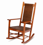 Jack Post KN-2028 Knollwood Wicker Rocker, Natural Finish