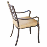 Patio Master AAH01800K01 Granada Patio Collection Dining Chair, Latt  Olefin Cushion, Aluminum Frame, Must Purchase in Quantities of 4