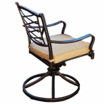 Patio Master AAH01801K01 Granada Patio Collection Swivel Rocker, Latt  Olefin Cushion, Aluminum Frame, Must Purchase in Quantities of 2