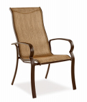 Patio Master ADH10000K01 Bellevue Patio Collection Sling Dining Chair, Espresso Textile, Aluminum Frame, Must Purchase in Quantities of 4
