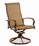 Patio Master ADH10001K01 Bellevue Patio Collection Sling Swivel Rocker, Espresso Textile, Aluminum Frame, Must Purchase in Quantities of 2
