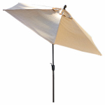 Patio Master AZB00205K32 Granada Patio Collection Market Umbrella, Neutral, 9-Ft.