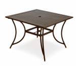 Patio Master ALH31312K01 Bellevue Patio Collection Dining Table, Aluminum, 40-In. Sq.