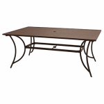 Patio Master ALH43512K01 Bellevue Patio Collection Slat-Top Dining Table, Espresso Aluminum, 40 x 68-In.