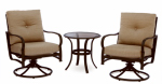 Agio International S3-ACH05001 Bellevue 3PC Dining Set