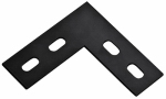 National Mfg/Spectrum Brands Hhi N351-504 Corner Brace, Black Steel, 4.5-In.