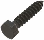 National Mfg/Spectrum Brands Hhi N179-150 Wood Lag Screw, Black Steel, 5/16 x 1.5-In. 6-Pk.
