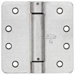 National Mfg/Spectrum Brands Hhi N350-876 Spring Door Hinge, Adjustable, Stainless Steel, 4-In.