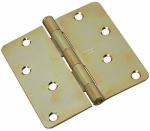 National Mfg/Spectrum Brands Hhi N830-264 Door Hinge, Interior, Brass Tone, 4-In.
