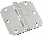 National Mfg/Spectrum Brands Hhi N830-179 Door Hinge, Interior, Round-Edge, Polished Chrome, 3.5-In.