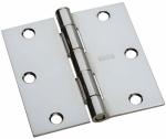 National Mfg/Spectrum Brands Hhi N830-185 Door Hinge, Interior, Square-Edge, Polished Chrome, 3.5-In.