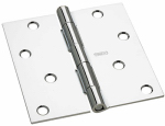 National Mfg/Spectrum Brands Hhi N830-186 Door Hinge, Interior, Square-Edge, Polished Chrome, 4-In.