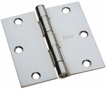 National Mfg/Spectrum Brands Hhi N830-187 Door Hinge, Interior, Square-Edge, Polished Chrome, 3-In.