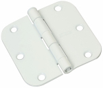 "National Mfg N830-215 3.5"" WHT Door Hinge"