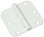 National Mfg/Spectrum Brands Hhi N830-217 Door Hinge, Interior, Round-Edge, Prime, 3-In.
