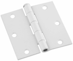 "National Mfg N830-221 3.5"" WHT Door Hinge"