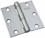 National Mfg/Spectrum Brands Hhi N139-808 Plain Steel Removable-Pin Broad Hinge, 3-In.