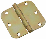 National Mfg/Spectrum Brands Hhi N830-260 Door Hinge, Interior, Round-Edge, Brass Tone, 3.5-In.