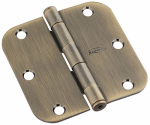 National Mfg/Spectrum Brands Hhi N830-170 Door Hinge, Interior, Round-Edge, Antique Brass, 3.5-In.