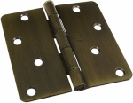 National Mfg/Spectrum Brands Hhi N830-174 Door Hinge, Interior, Antique Brass, 4-In.