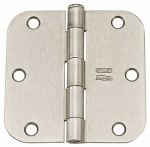National Mfg N612-061 12PK 3-1/2 Nickel Res Hinge