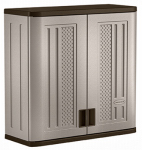 Suncast BMC3000 Wall Storage Cabinet, Double-Wall Resin, 30.25-In. High