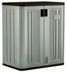 Suncast BMC3600 Indoor Storage Cabinet, Platinum & Slate, 36-In. High