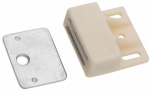 National Mfg/Spectrum Brands Hhi N149-823 Cabinet Catch, Magnetic, Nylon Case, White