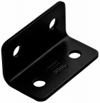 National Mfg/Spectrum Brands Hhi N351-483 Corner Brace, Black Steel, 3-In.