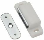 National Mfg/Spectrum Brands Hhi N149-898 Cabinet Catch, Magnetic, Aluminum Case, White