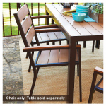Jack Post HA-821 Hudson Bay Collection Patio Dining Chair, Aluminum & Polyslat Wood