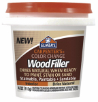 Elmer's Product E912 Color Change Interior Wood Filler, Natural, 4-oz.