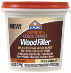 Elmer's Product E913 Color Change Wood Filler, Natural Color, 8-oz.