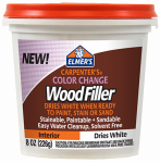 Elmer's Product E916 Color Change Wood Filler, White, 8-oz.