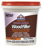 Elmer's Product E917 Color Change Interior Wood Filler, White, 16-oz.